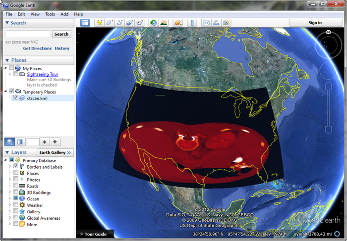 Displaying an IDL Image in Google Earth