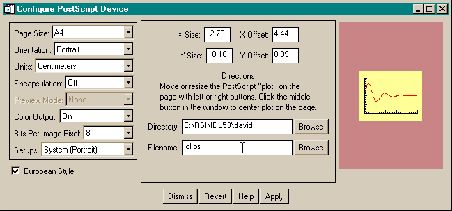 The FSC_PSConfig graphical user interface in non-modal and non-saved mode.