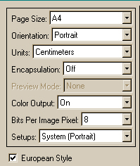 The left panel of the FSC_PSConfig graphical user interface.