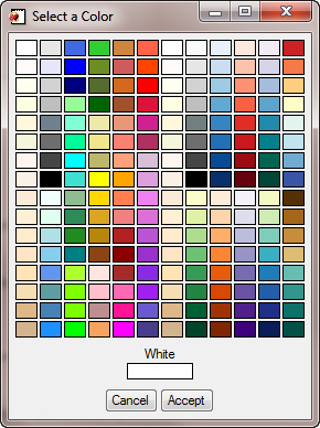 The cgColor program colors.
